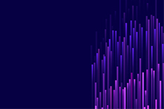 Abstract, vertical line of shades of blue and purple