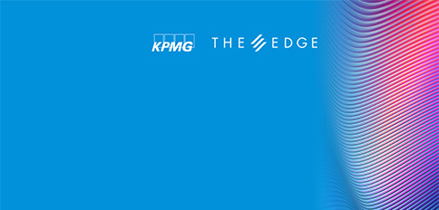 KPMG and The Edge logo text overlay against texture image