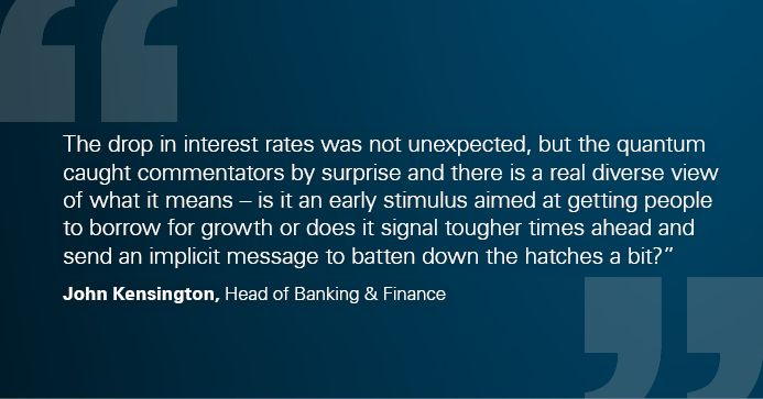 Drop in interest rates