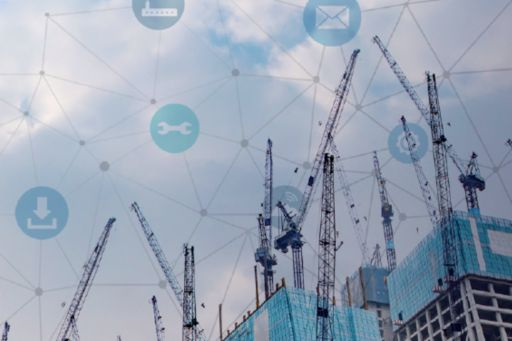 building with icons