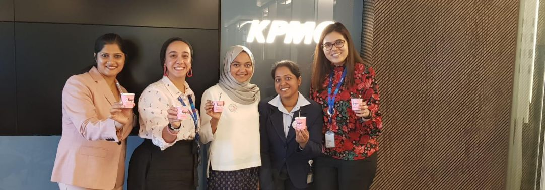 Celebrating the Breast Cancer Awareness Month in KPMG Kuwait