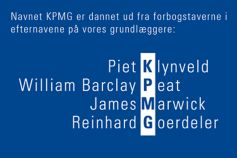 KPMG er en forkortelse for