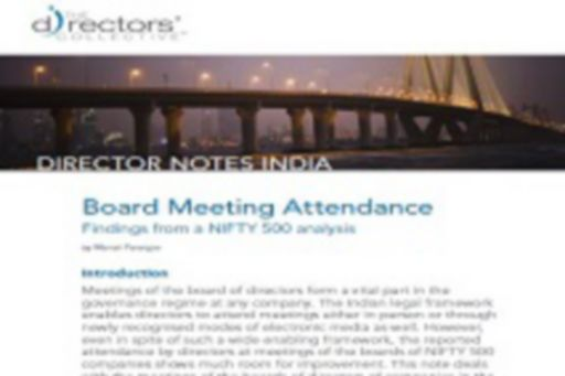 Board Meeting Attendance- Findings from a NIFTY 500 analysis