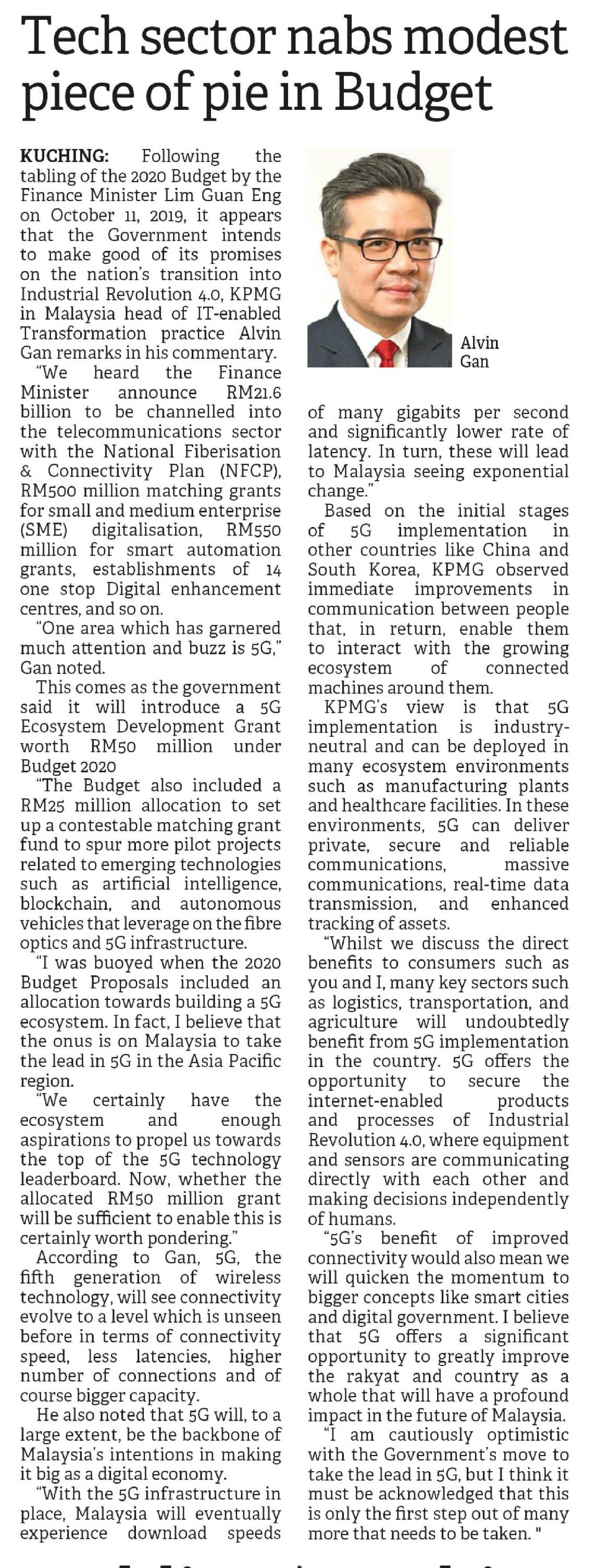 Tech sector nabs modest piece of pie in Budget