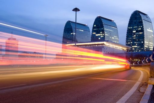 KPMG IFRS breaking news image: colourful light trails