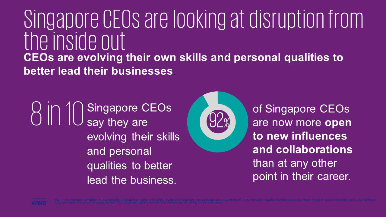 Singapore CEOs are looking at disruption from the inside