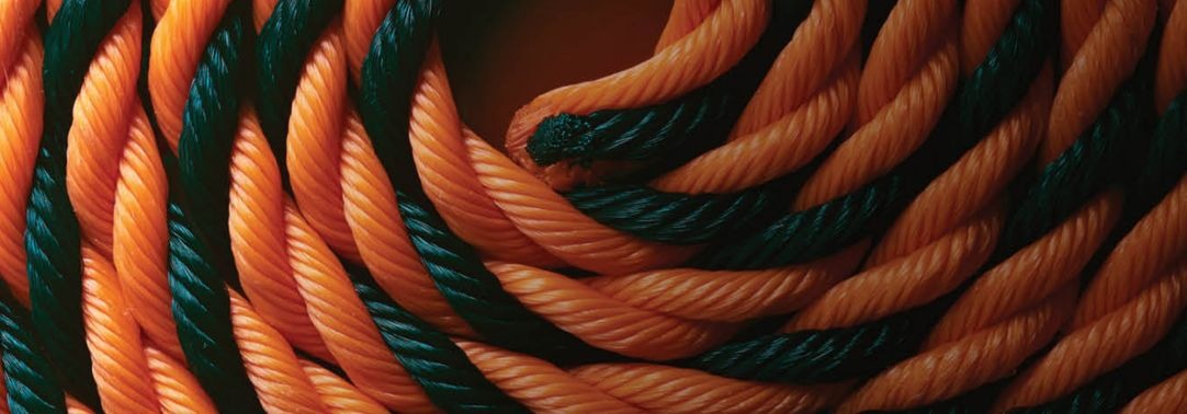 A rope of two colors