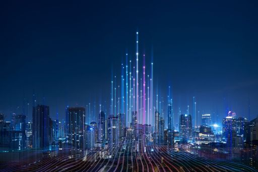 City with data