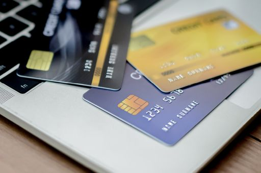 Laptop with multiple credit cards