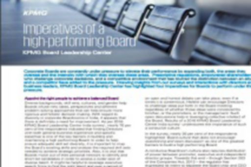 Imperatives of high performing boards