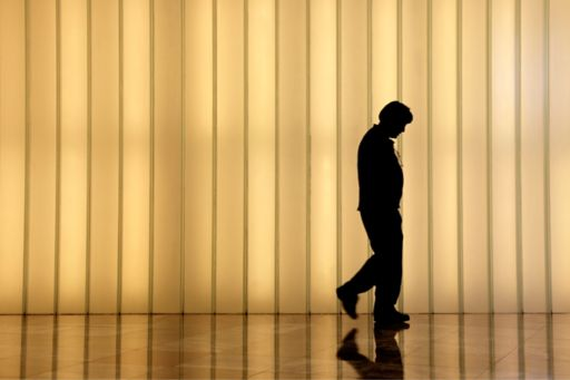 Silhouette of an anonymous employee