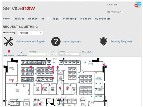 ServiceNow booking meeting room