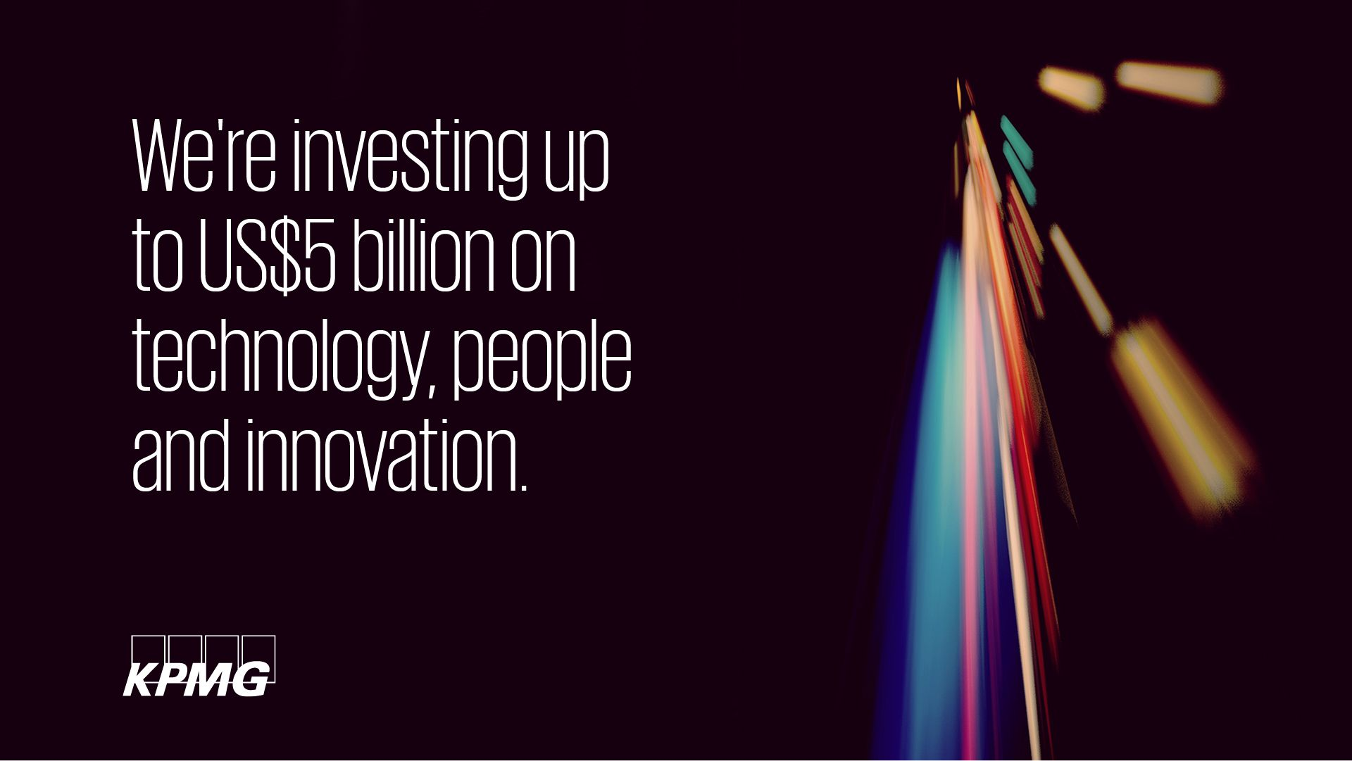 KPMG invests in technology, people and innovation