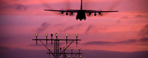 airplane with pink background