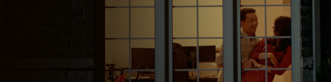 A couple in a window