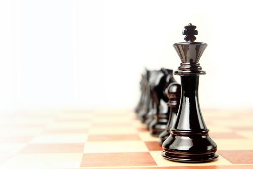 A king on a chess board