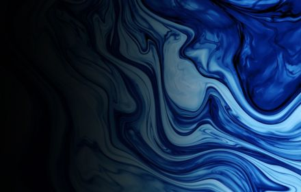 Abstract Classic Blue Marbled background, fluid paint art