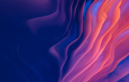 Abstract holographic 3d wave in pink and purple