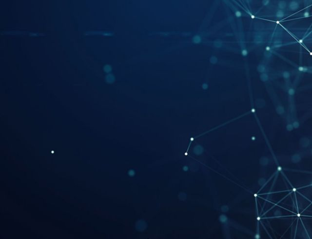 abstract light blue connected dots