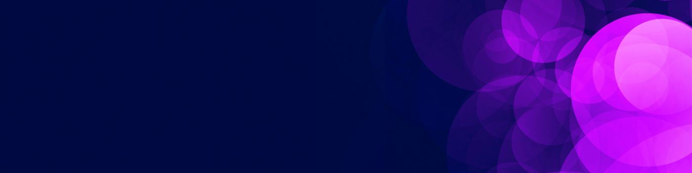 Abstract pink and purple circles on a dark blue background