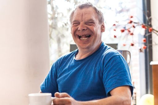 Adult man with Down Syndrome