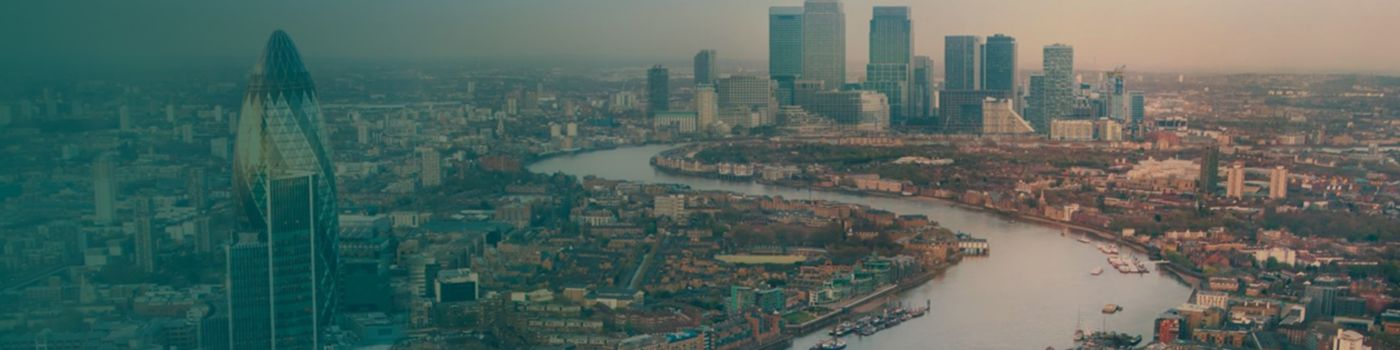 Aerial view of tower bridge and London city