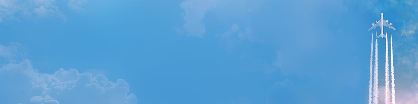 Blue sky with plane flying