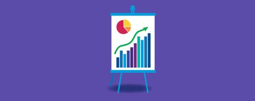 An easel with charts illustration
