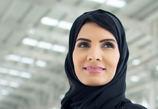Arab woman with blur background