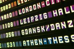Arrival and departures display