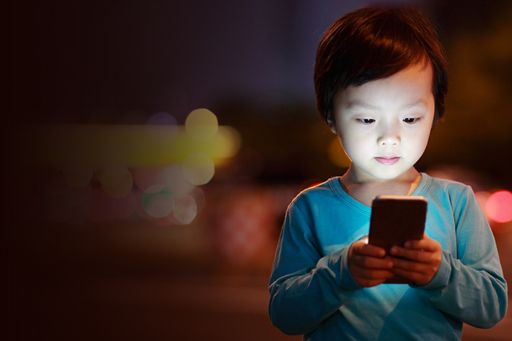 Child with technology