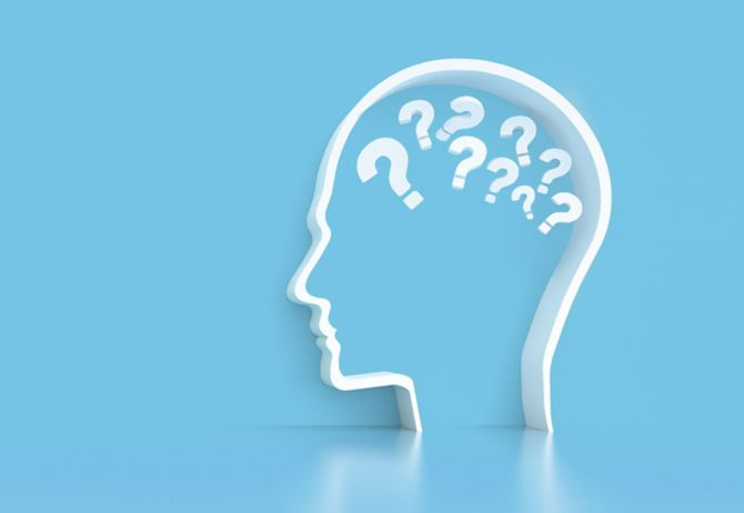 head with question marks on blue background, askkpmg