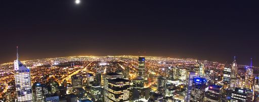 Elevated view of Melbourne, Australia