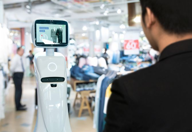 Autonomous personal assistant robot for navigation customer to search items in fashion shopping mall.
