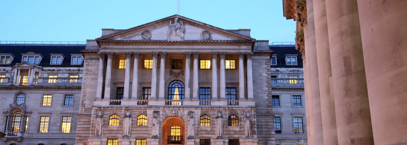 Entrance to the Bank of England