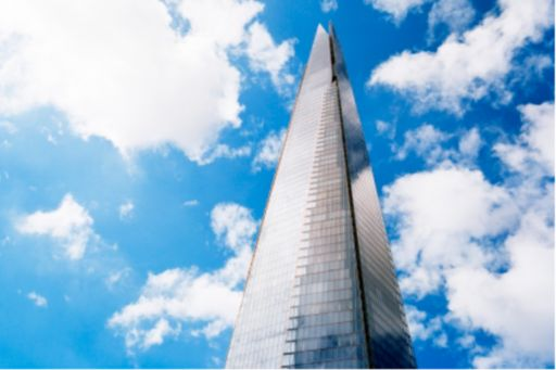 Banking | London's Shard building on a cloudy day