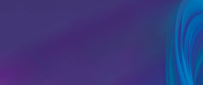 Blue curved lines against purple background