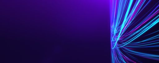Blue lines converging on purple background texture
