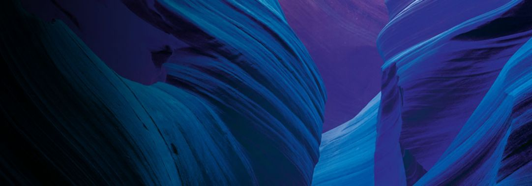 Blue purple abstract banner