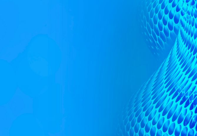 Blue web of circles