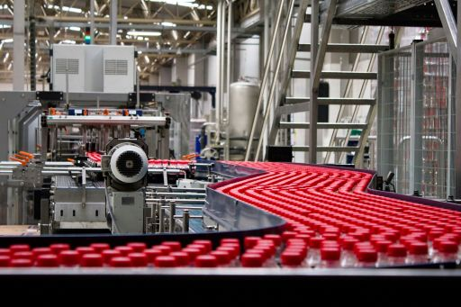 A bottle packaging plant