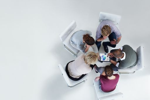 business people group discussion
