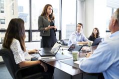 Business woman in meeting