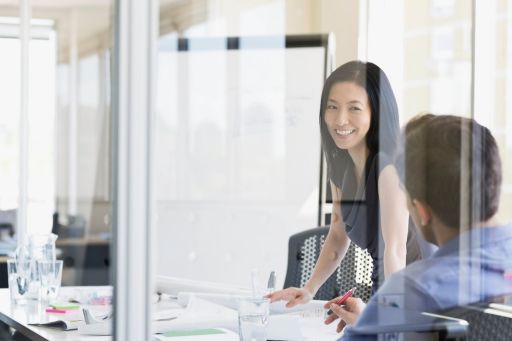 business woman in office meeting
