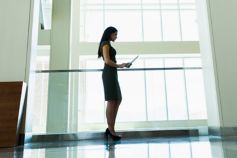 Business woman using tablet