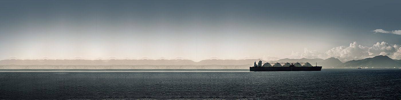 Carrier ship in the middle of an ocean