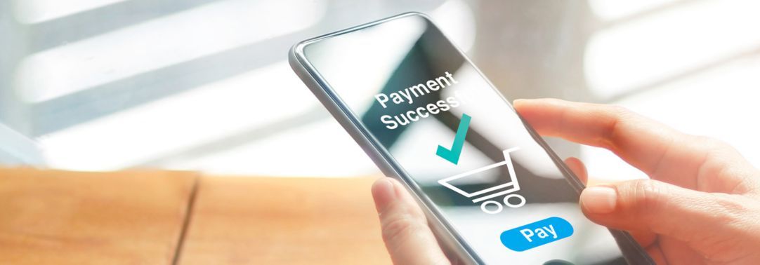 Cell phone with payment successful notification