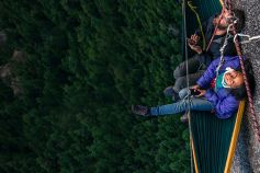 Changing Futures strategy - climbers resting on a cliff