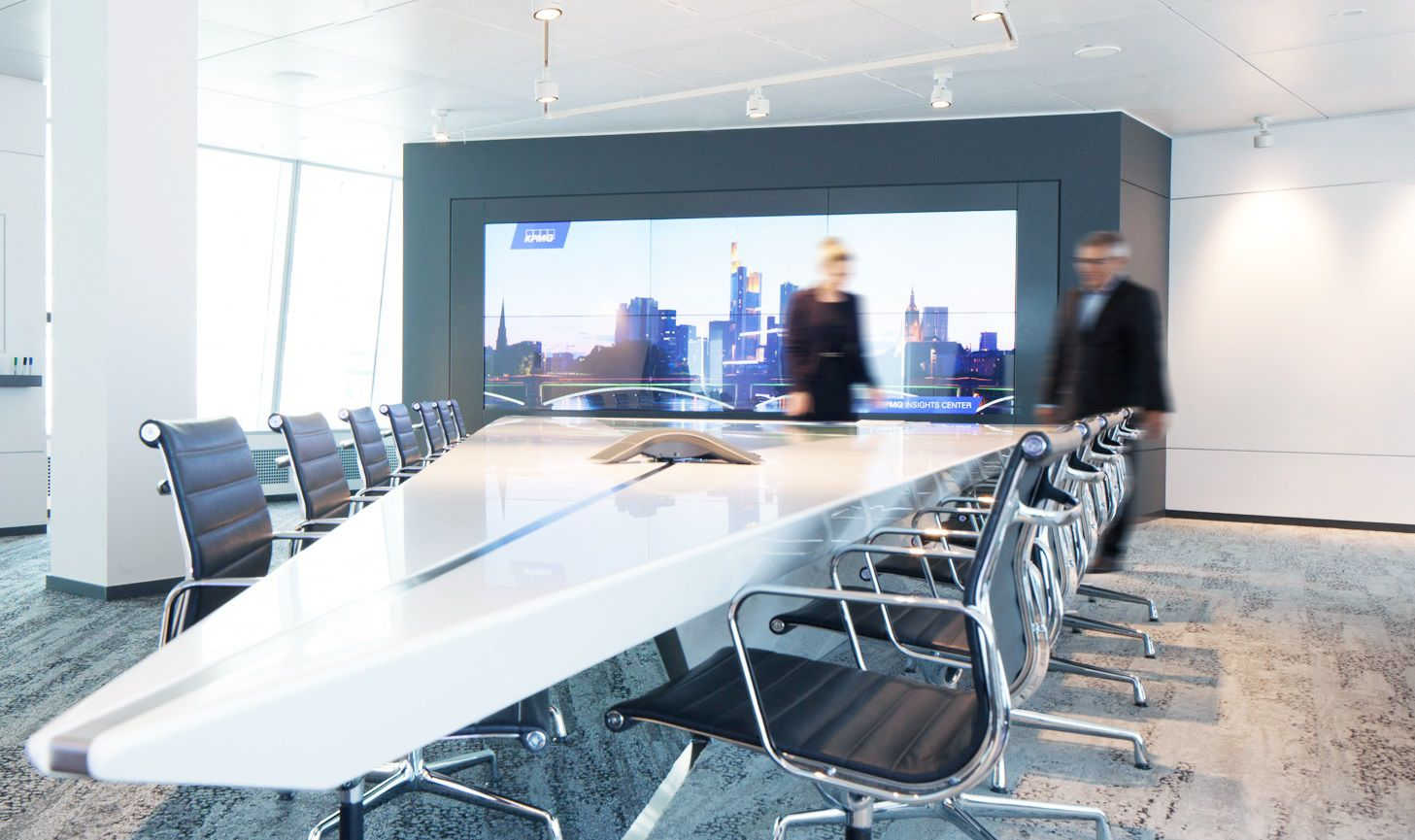 Chairs and table in meeting room