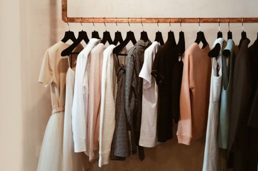 Clothes rack in store